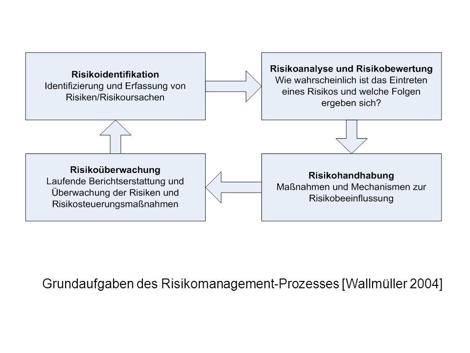 Grundaufgaben des Risikomanagement-Prozesses [Wallmüller 2004]